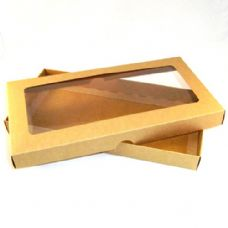 DL Brown Kraft Invitation Boxes With Aperture Lid